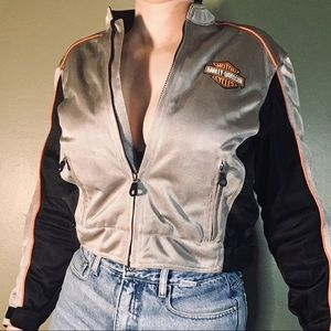 Authentic HARLEY DAVIDSON Cropped Moto Jacket